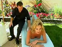Cute shemale mistress fucks by pool