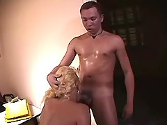 Hot secretary tranny fucked by guys