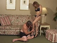 Submissive male fucking with tranny