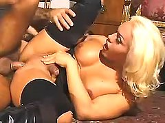 Fancy lusty shemale fucked on floor