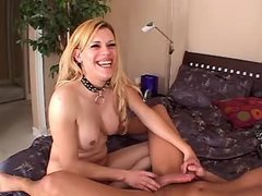Dude sucked and fucked blond tranny