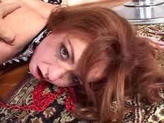 Shemales mistress fucks redhead gal