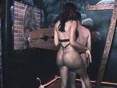 Small black tgirl humiliates to guy
