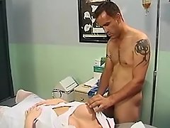 Doctor&patient amused with TS nurse