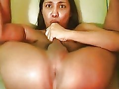 Self Sucking Ladyboy