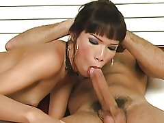 Beautiful asian shemale tranny loves getting her tight asshole filled with dick